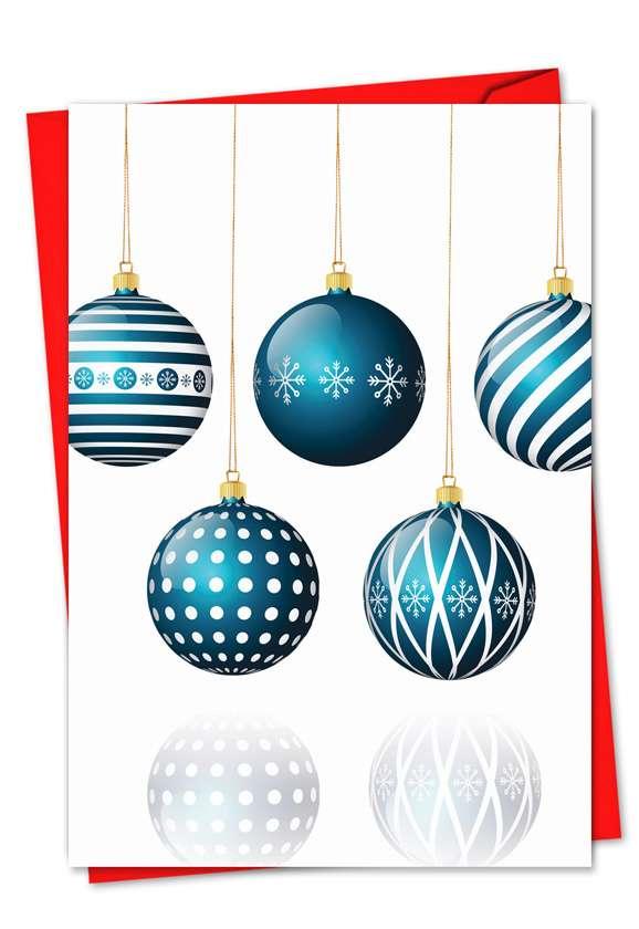 Yule-Tied: Creative Christmas Printed Greeting Card