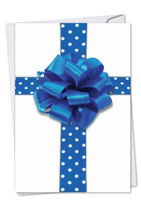 Beribboned in Blue: Creative Hanukkah Paper Greeting Card