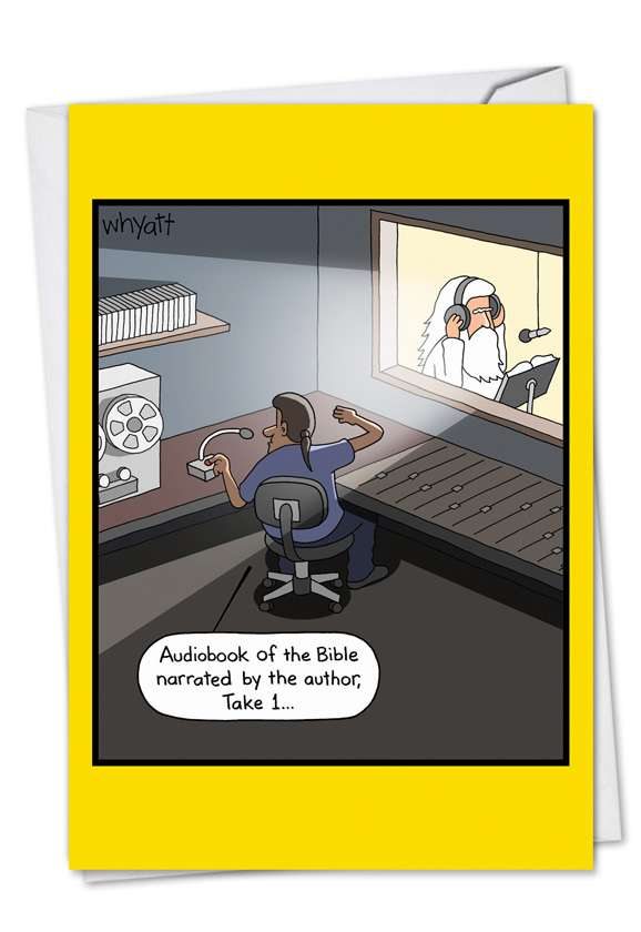 Bible Audiobook: Hysterical Birthday Printed Greeting Card