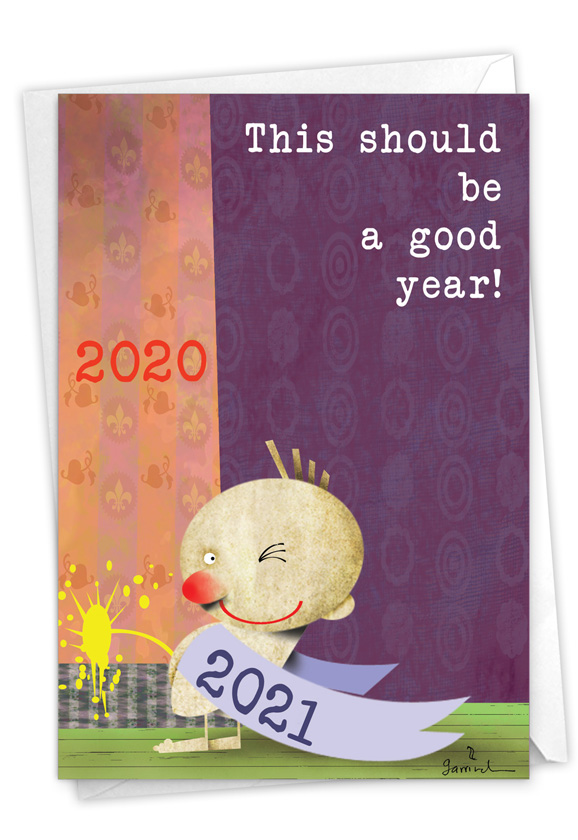 Piss On Year - 2020: Funny New Year Paper Greeting Card