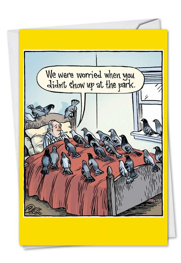 Worried Pigeons Card