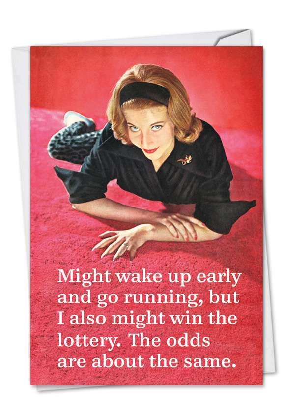 Same Odds: Hilarious Birthday Paper Card