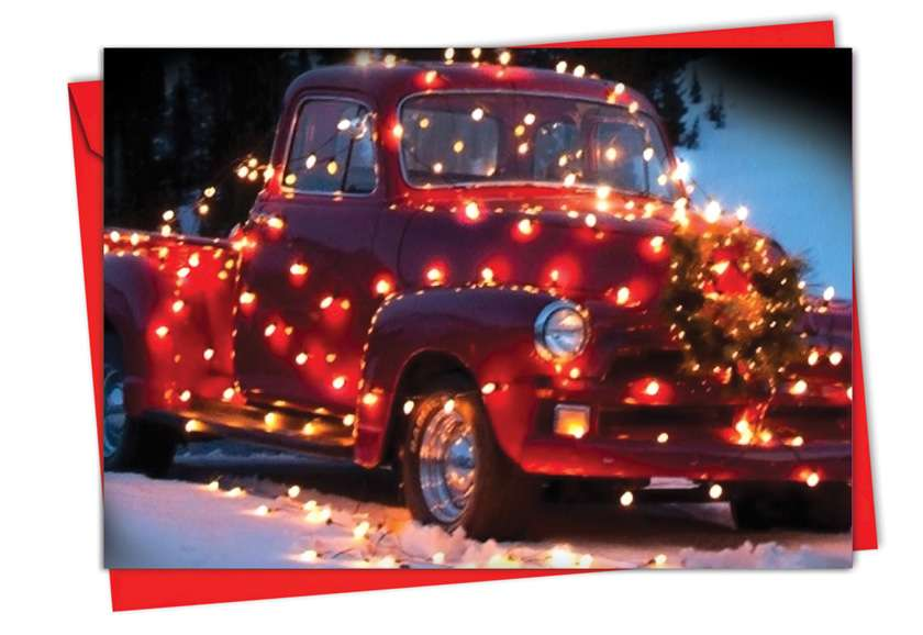 All Trucked Up: Creative Christmas Paper Card