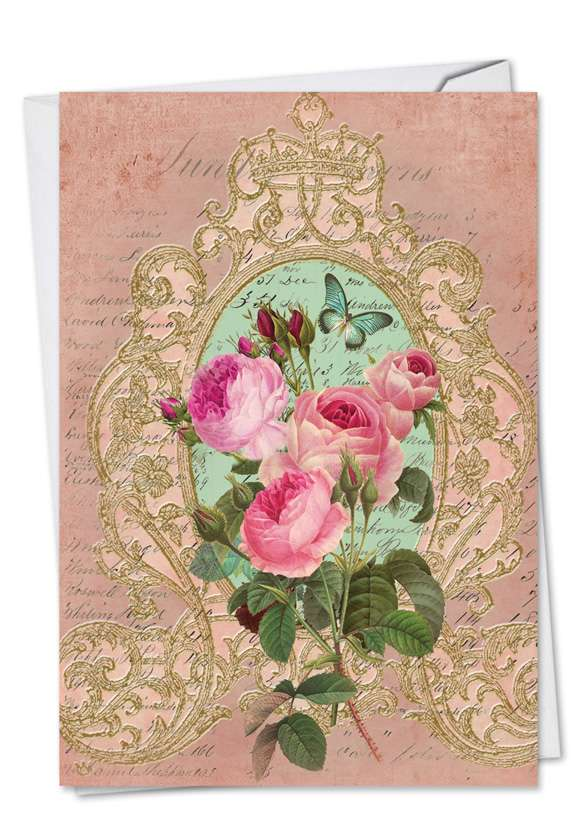 Romance And Roses: Creative Mother's Day Paper Card