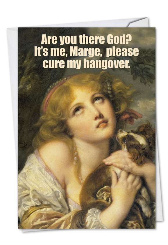 Cure My Hangover: Humorous Birthday Paper Greeting Card