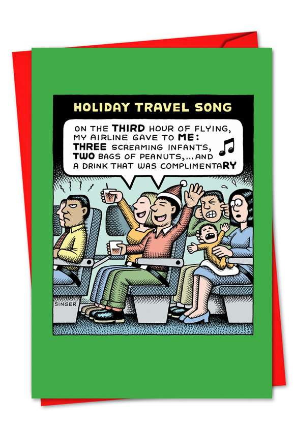 Holiday Travel Song: Humorous Christmas Greeting Card