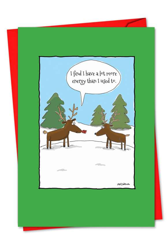 More Energy: Hilarious Christmas Printed Card
