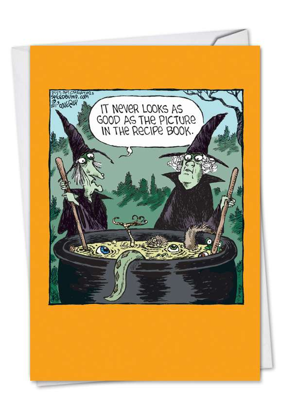 Witch Recipe Book: Funny Halloween Paper Greeting Card