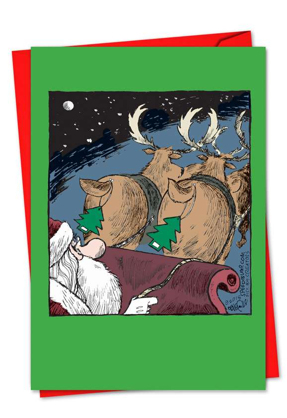 Reindeer Fresheners: Hilarious Christmas Printed Card