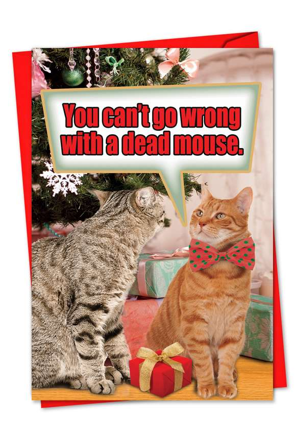 Dead Mouse: Funny Christmas Printed Card