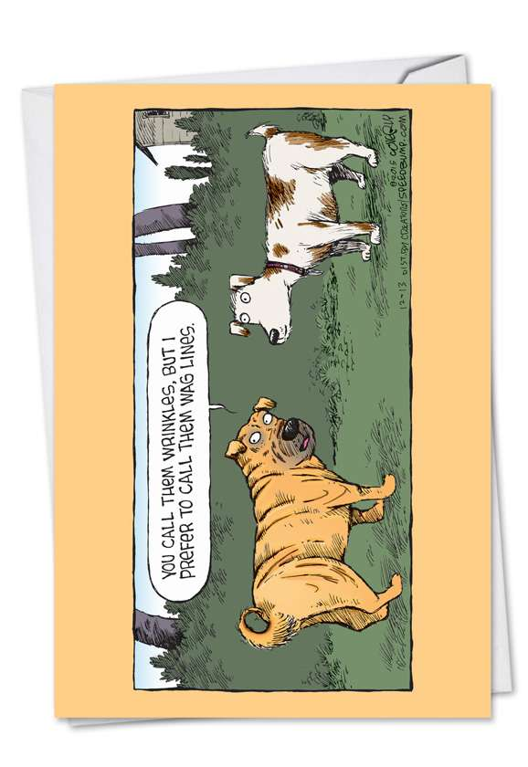 Wag Lines: Funny Birthday Paper Greeting Card