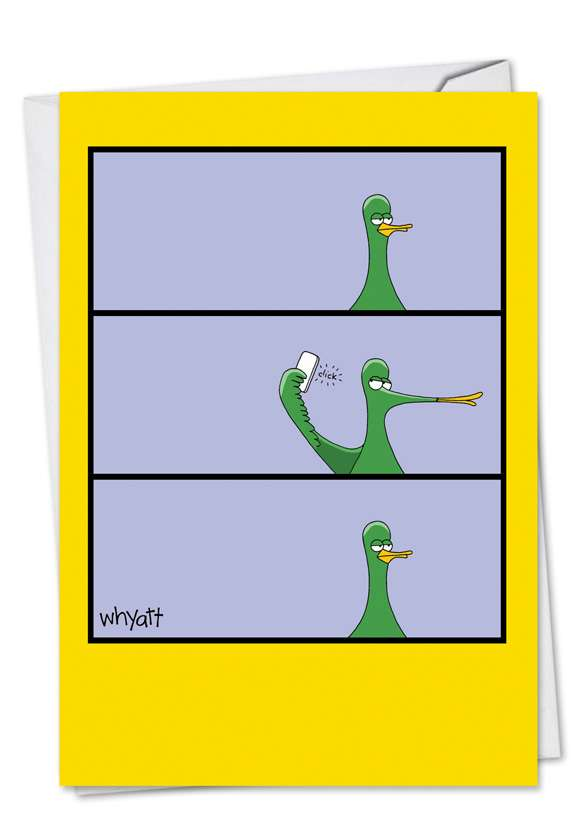 Duck Face: Hysterical Birthday Paper Card