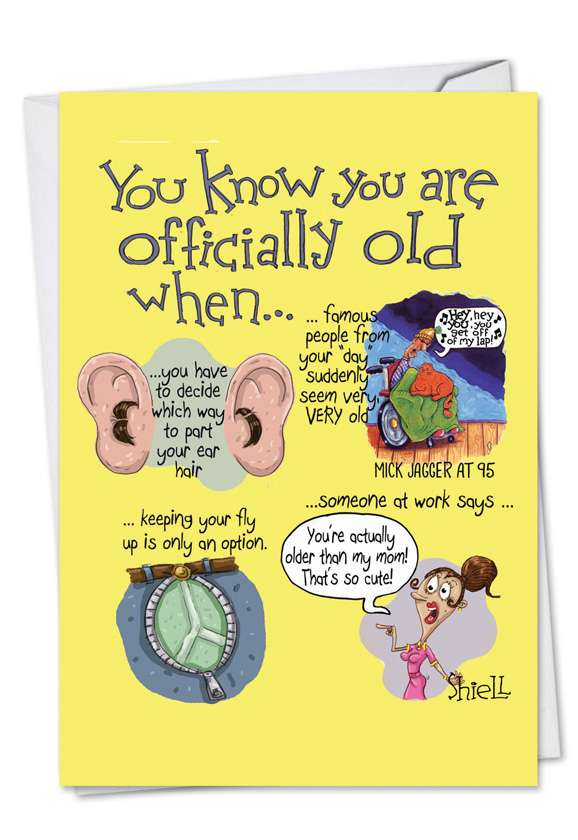 Officially Old Hints: Hysterical Birthday Greeting Card