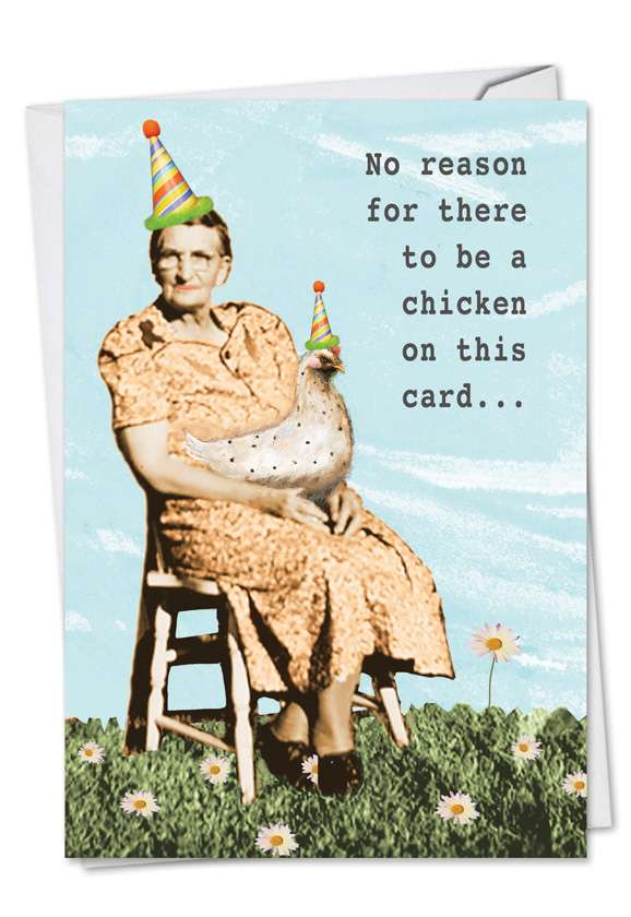 Pecker Excuse: Hysterical Birthday Printed Card