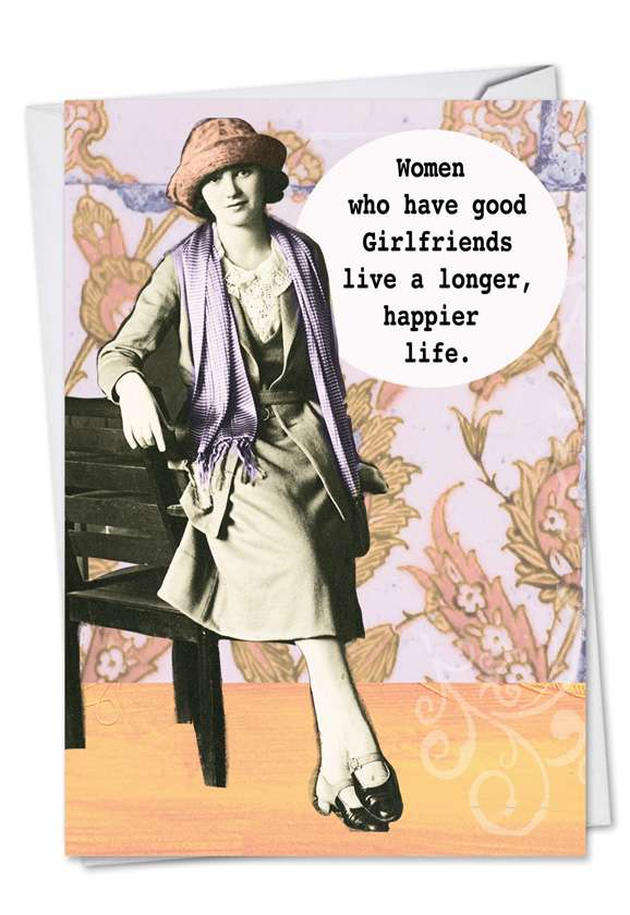 Good Girlfriends: Humorous Birthday Paper Card