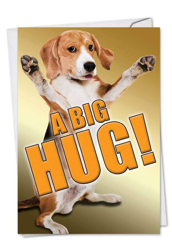 A Big Hug-Dog: Hysterical Blank Printed Greeting Card