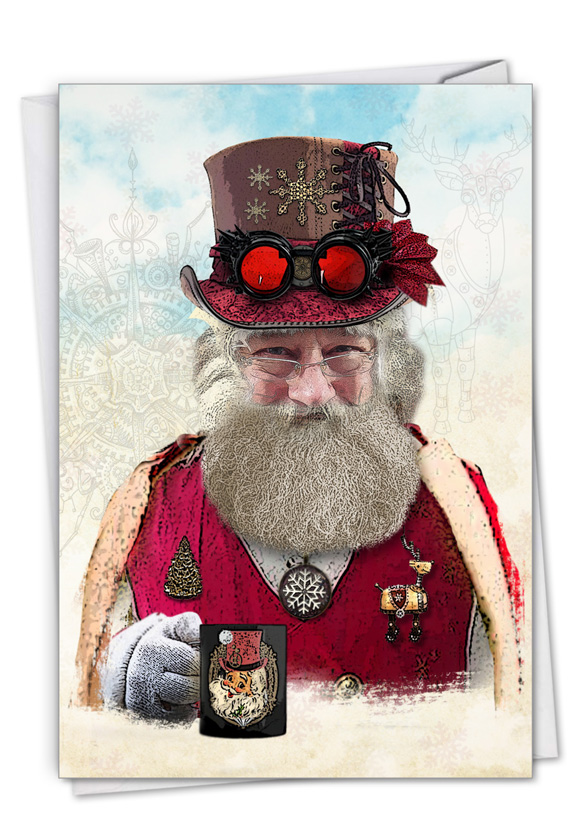 Steampunk Holidays - Mug: Creative Merry Christmas Greeting Card
