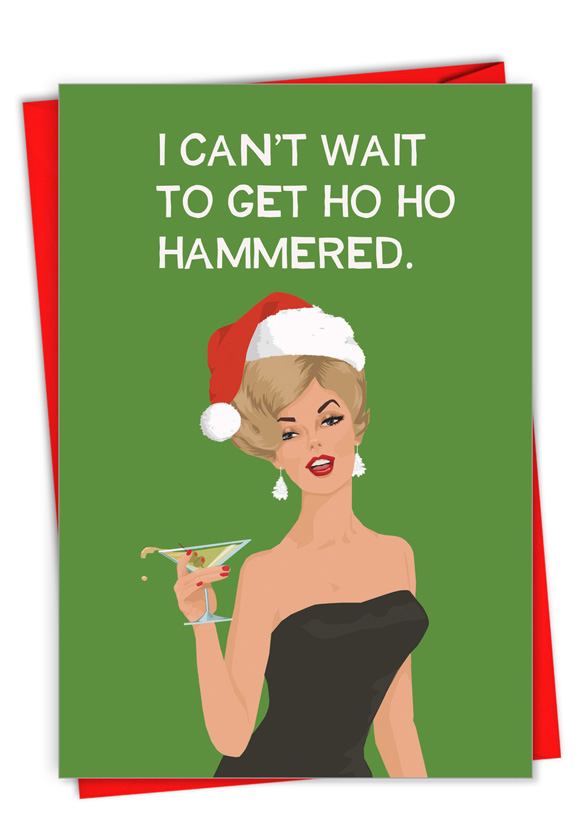 Ho Ho Hammered Card