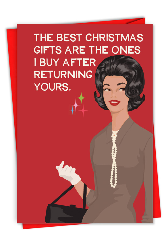 Returned Gifts: Hilarious Merry Christmas Printed Card