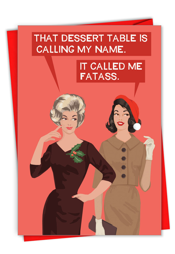 Calling My Name: Hysterical Merry Christmas Printed Card