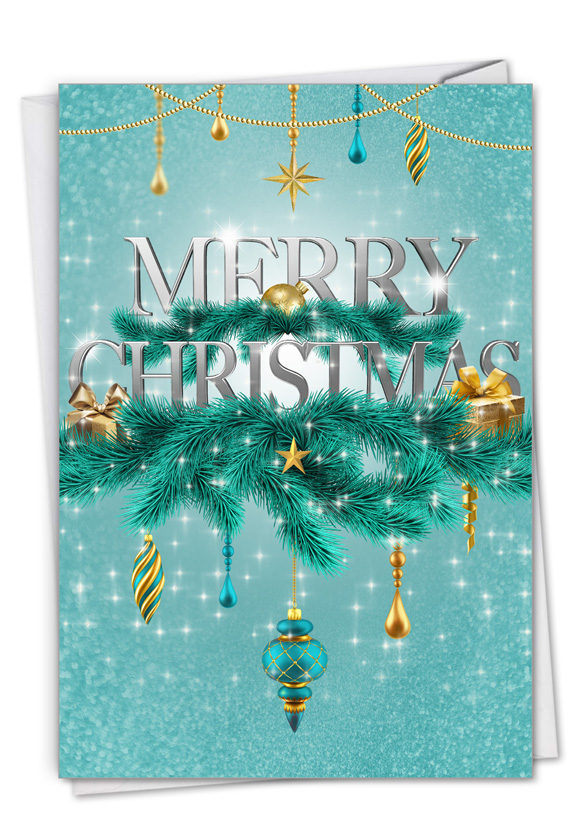 Season's Sparkles - Ribbons: Creative Merry Christmas Greeting Card