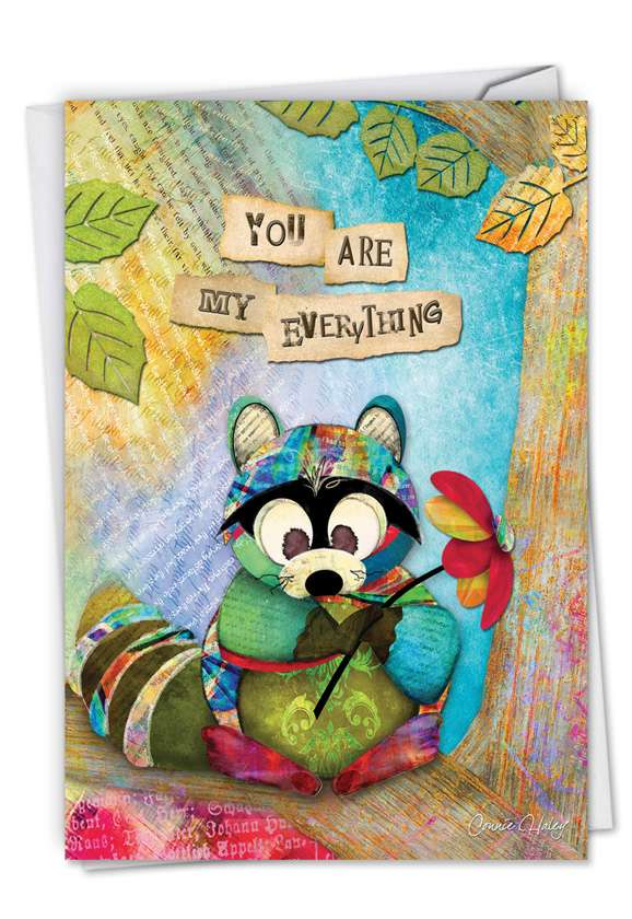 Forest Friends: Creative Anniversary Greeting Card