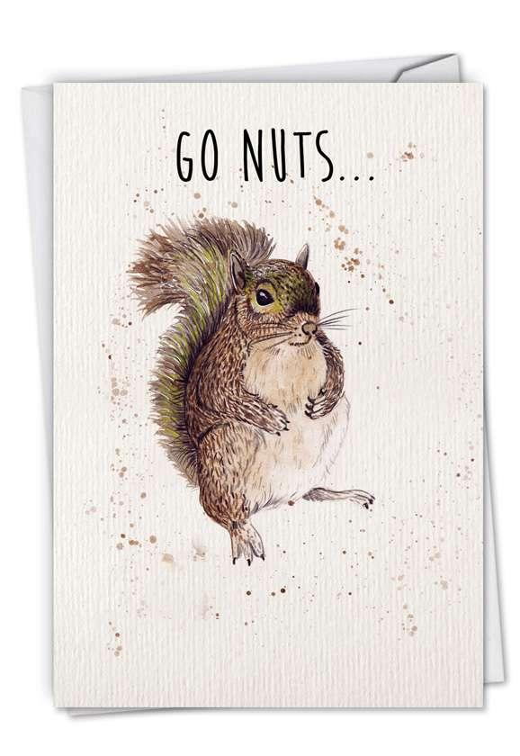 Wildlife Expressions: Stylish Birthday Greeting Card