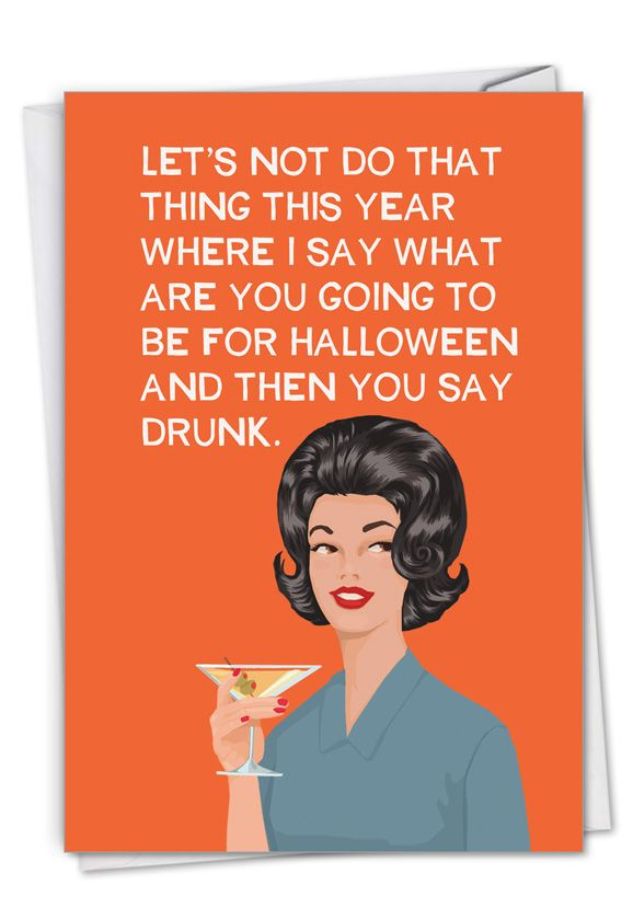 Do That Thing: Funny Halloween Paper Greeting Card