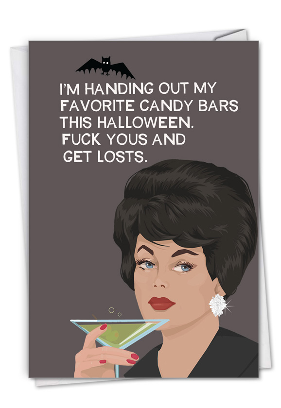 Favorite Candy Bars: Humorous Halloween Card