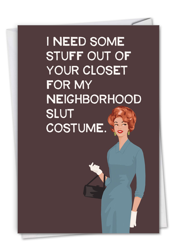 Your Closet: Funny Halloween Paper Card