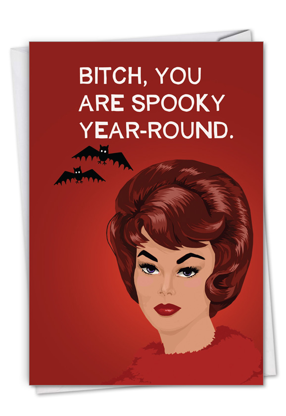 Spooky Year-Round: Funny Halloween Card