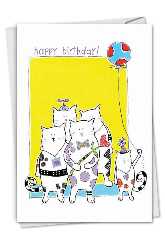 Cat Scratch: Creative Birthday Greeting Card