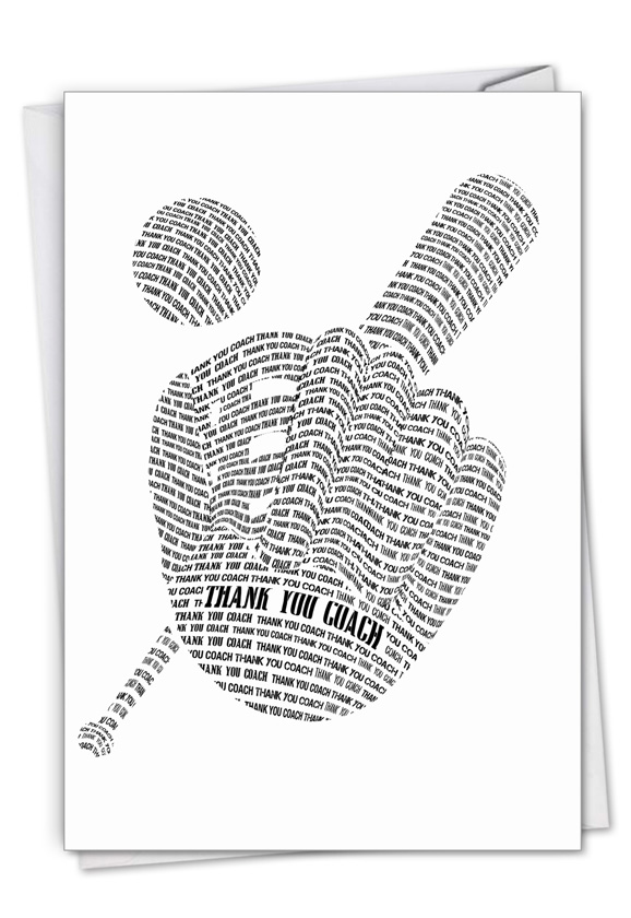 Baseball Mitt: Creative Thank You Printed Card