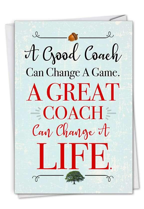Life-Changing Coach: Humorous Thank You Card
