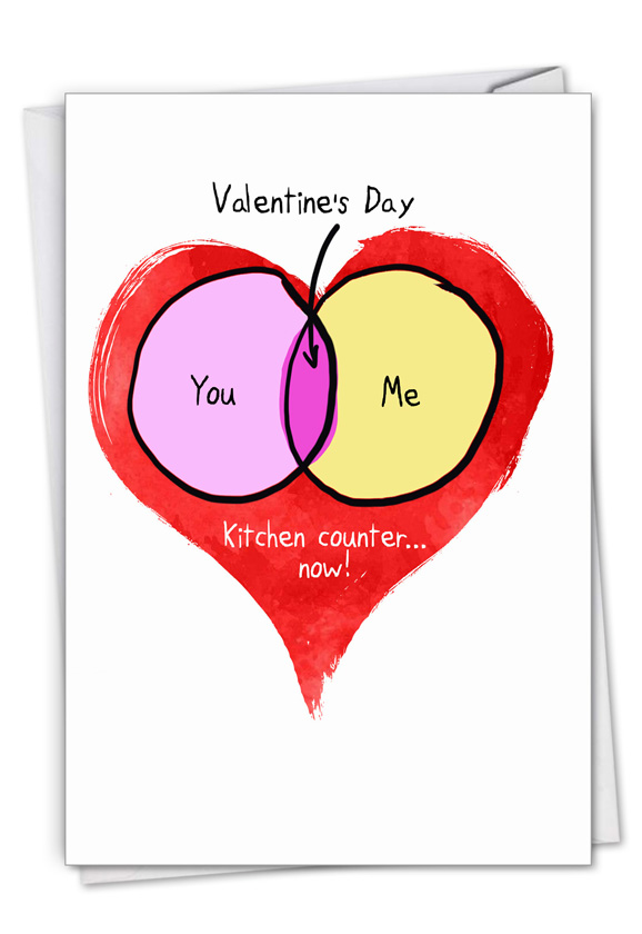You Me Chart: Funny Valentine's Day Paper Card
