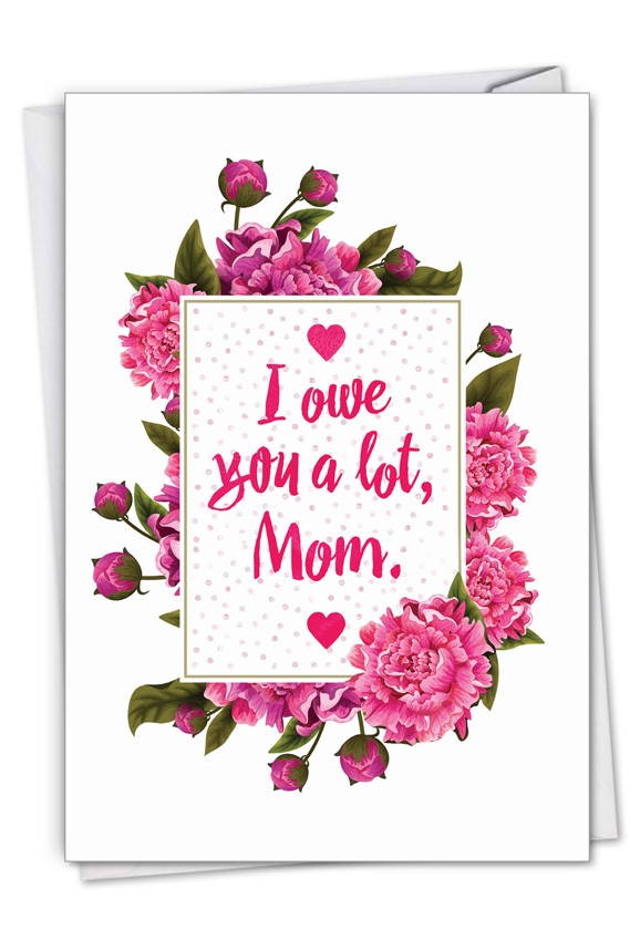 Mom Debt: Humorous Mother's Day Paper Greeting Card
