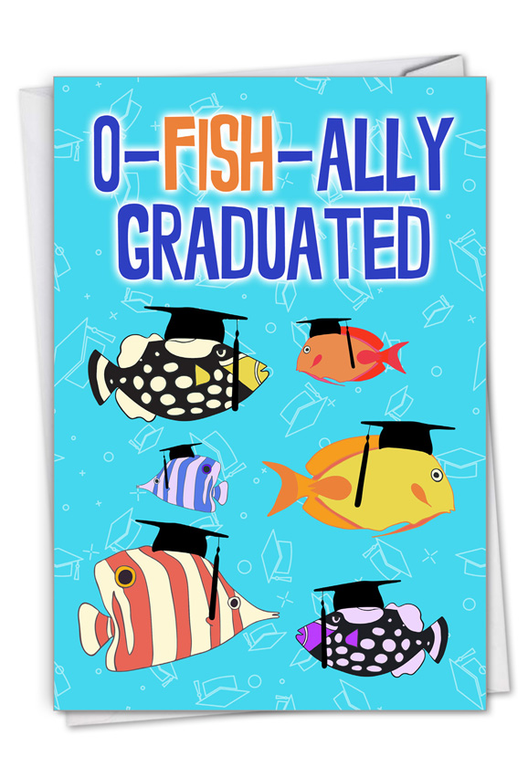No More School: Hysterical Graduation Printed Greeting Card