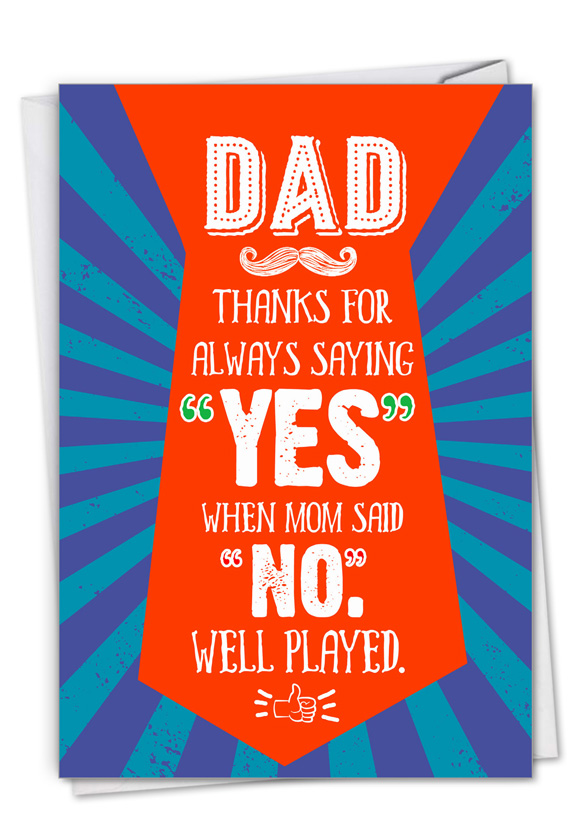 Well Played: Funny Father's Day Paper Card