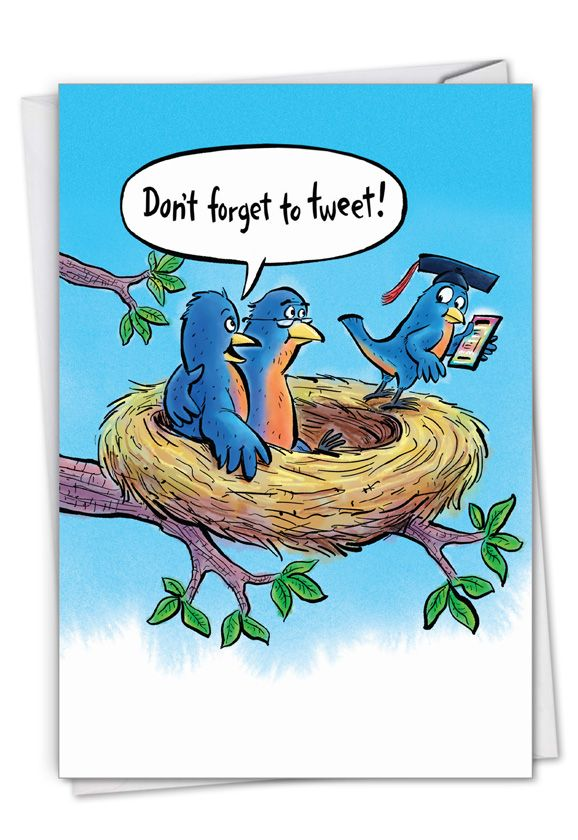 Get That Worm: Hilarious Graduation Printed Greeting Card