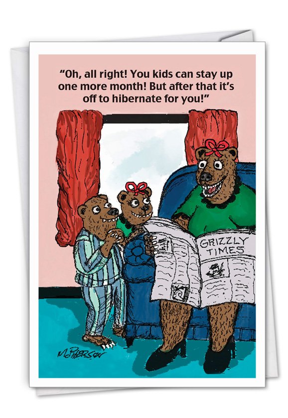 Bear Mom: Funny Mother's Day Paper Greeting Card