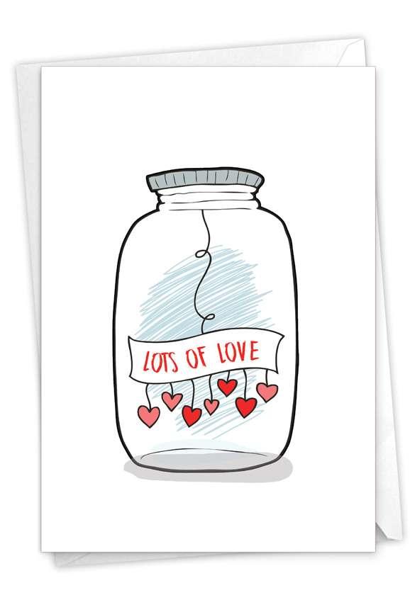 Love Jar: Stylish Valentine's Day Paper Card
