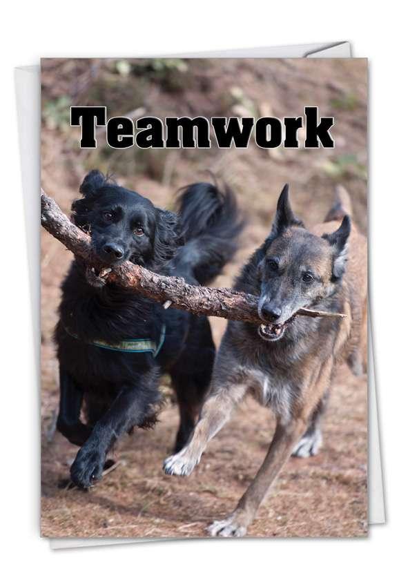 Teamwork: Stylish Thank You Paper Greeting Card