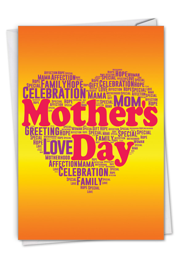 Mother's Words: Stylish Mother's Day Card