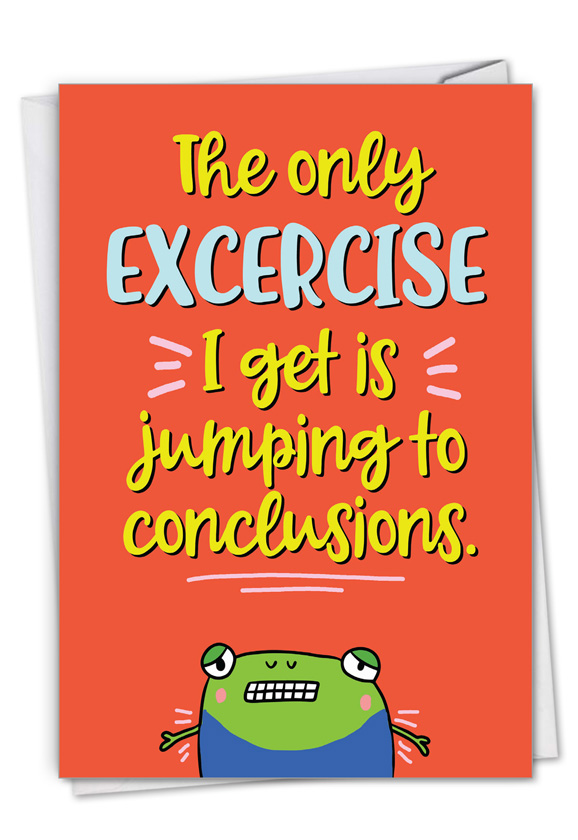 Conclusion Jumping: Funny Sorry Paper Greeting Card