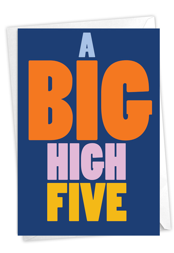 Big High Five: Funny Congratulations Card