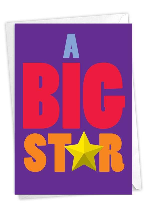 Big Star: Hilarious Congratulations Greeting Card