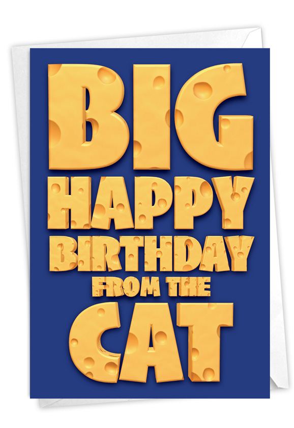 Big Cat Wishes: Humorous Birthday Pet Paper Card