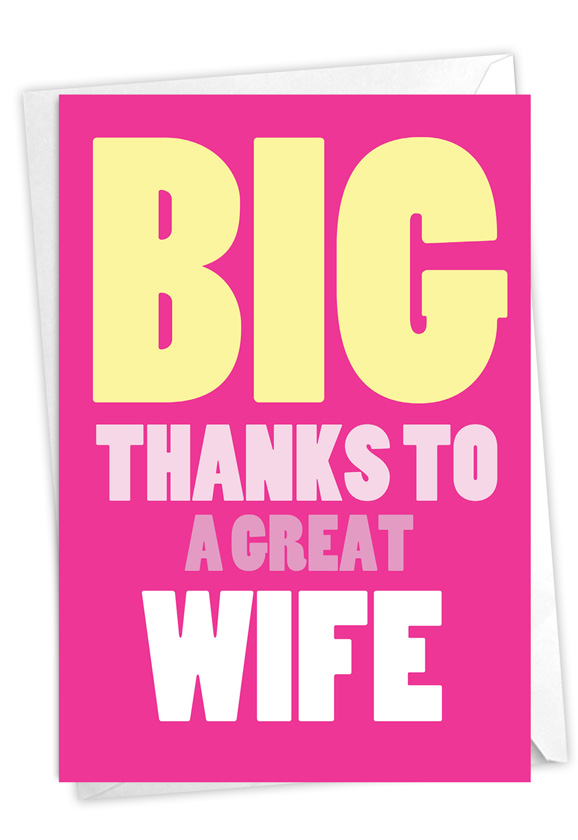 Great Wife: Funny Thank You Paper Greeting Card