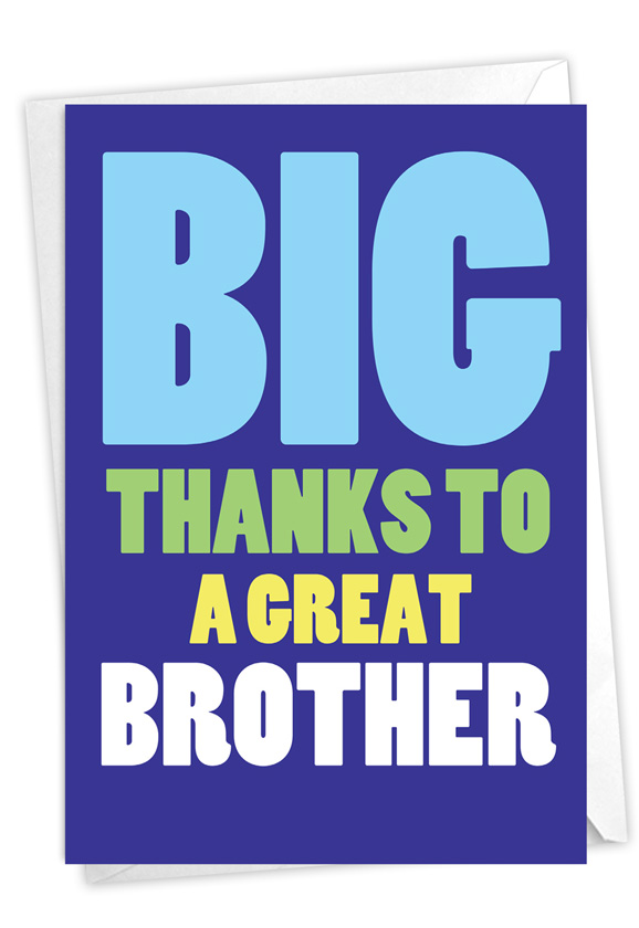 Great Brother: Hysterical Brother Thank You Greeting Card