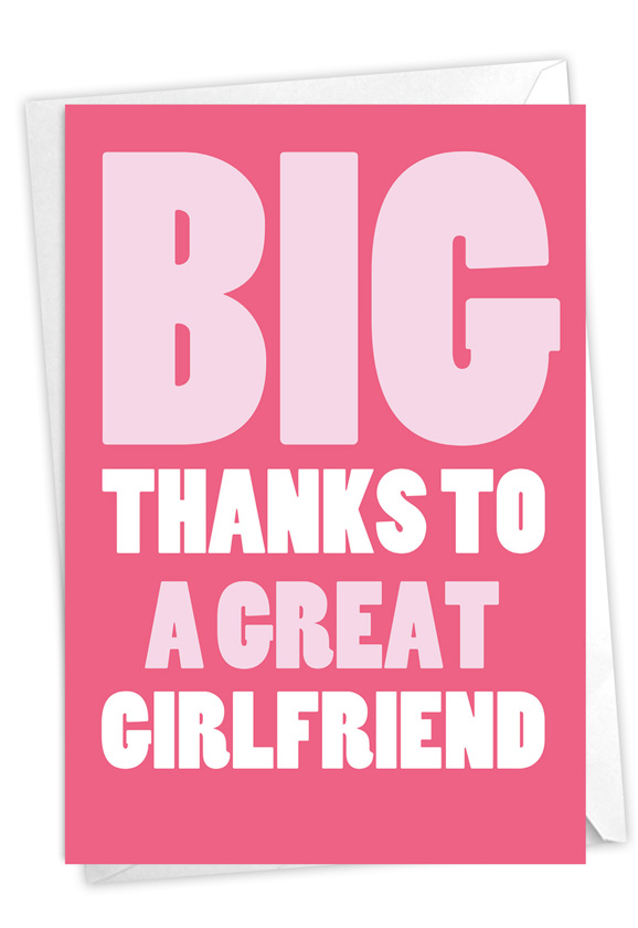 Great Girlfriend: Funny Thank You Paper Card
